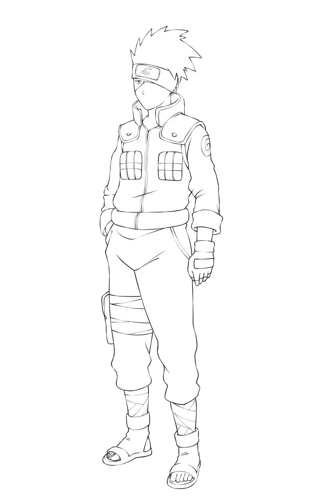 Full Body Kakashi Drawing : kakashi, drawing, Naruto, Boruto:, Kakashi, Sketch, Drawing