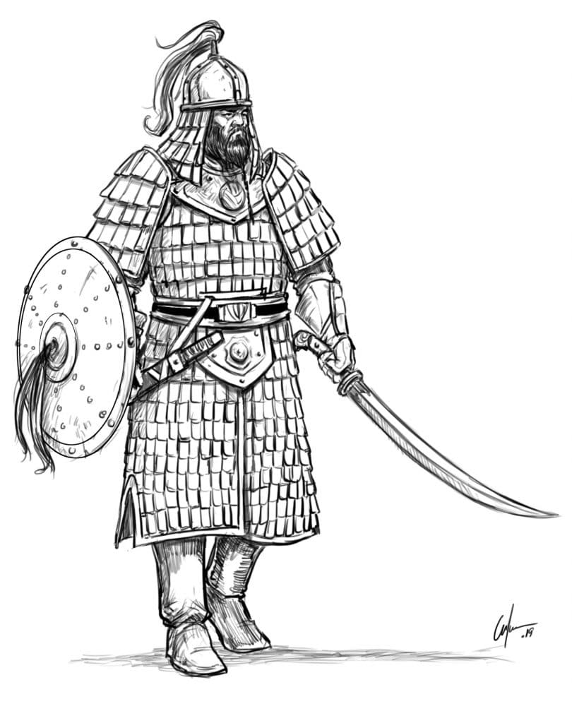 LEARN TO DRAW A MONGOL WARRIOR IN 8 EASY STEPS( WITH