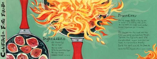 illustrated figs flambe recipe