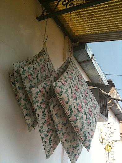hanging terrace pillows