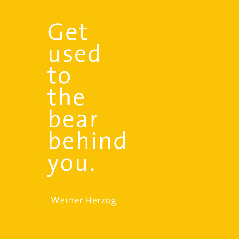 Get used to the bear W. Herzog