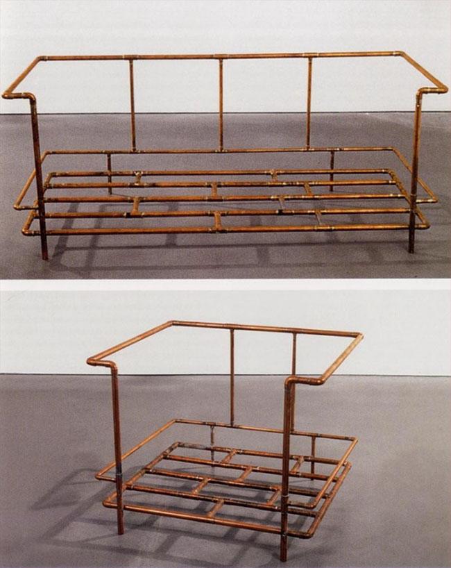 Jorge Pardo, Le Corbusier Sofa and Le Corbusier Chair, 1990.© Jorge Pardo
