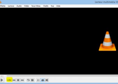 VLC menu modifié