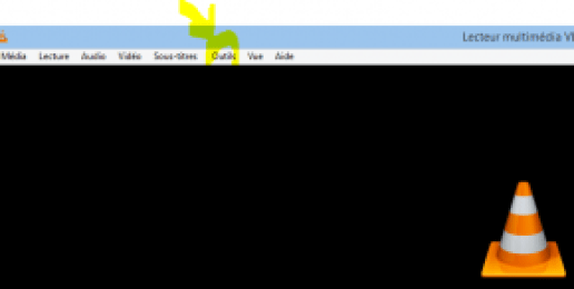 VLC menu outils