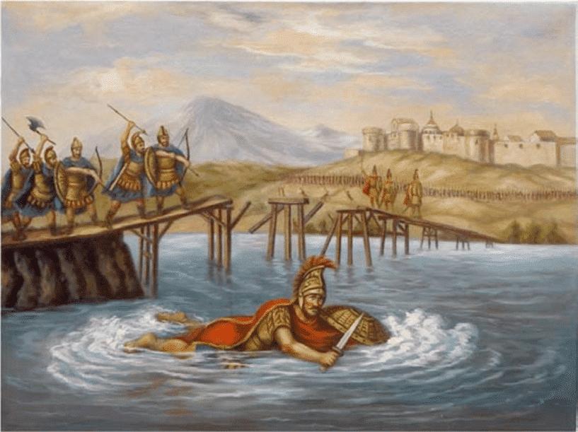 natation dans l'histoire - Scyllias s'échappant