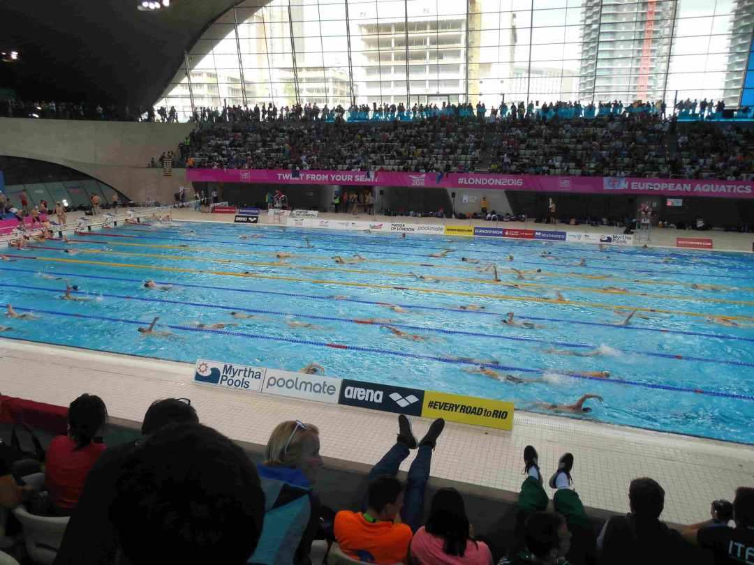 Les championnats de natation Masters à Londres en 2016