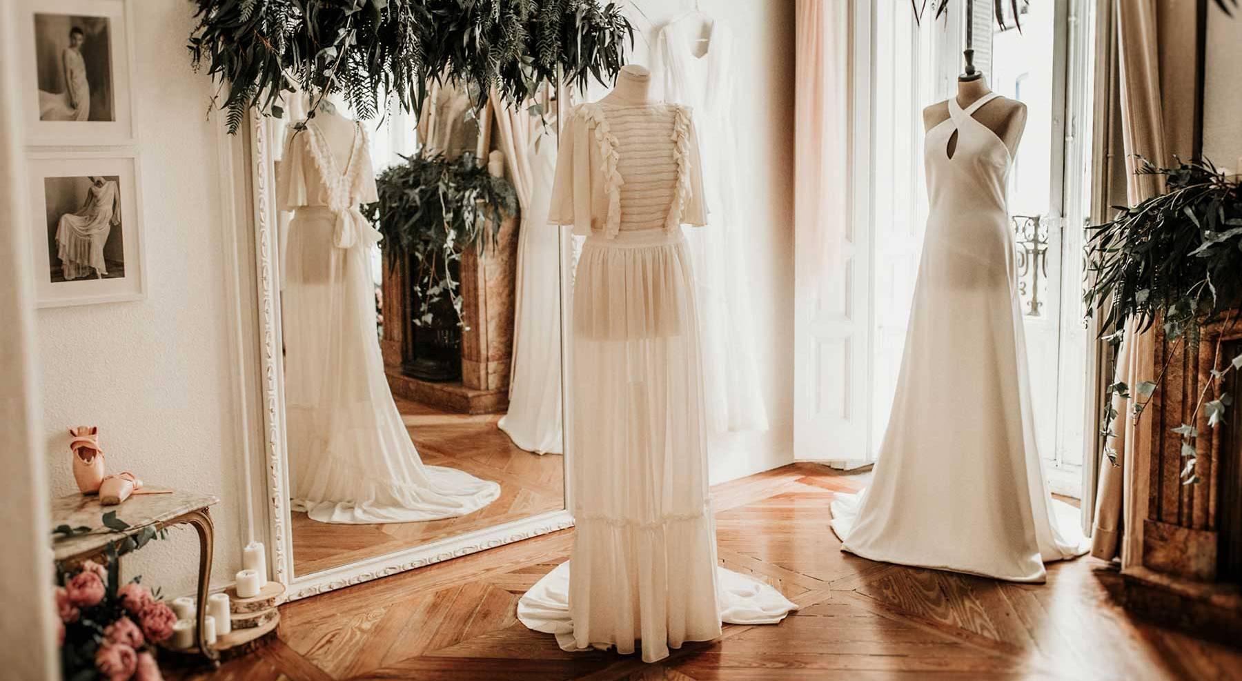 Atelier en la Calle Fernando VI, 2 (Madrid) de Impúribus, la firma de moda especializada en el diseño a medida para novias e invitadas