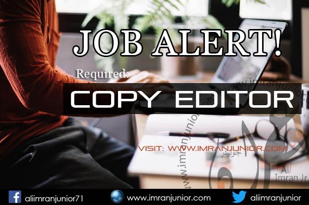 Copy Editor Job