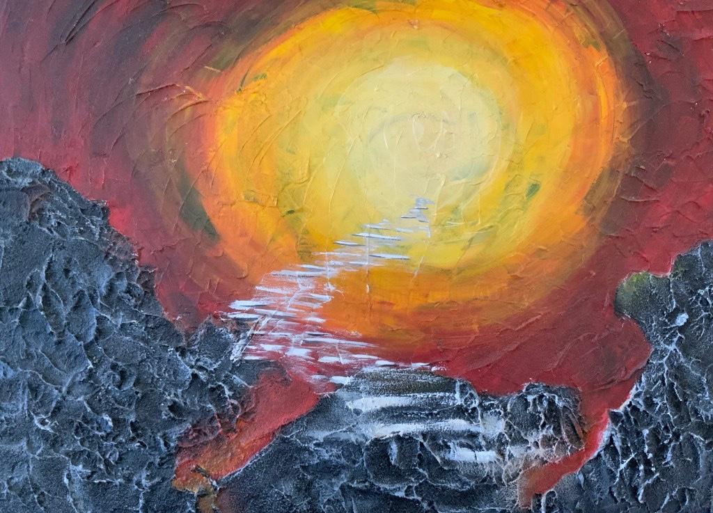 Kunst geht in Gärten Acrylmalerei von Kerstin Dähne