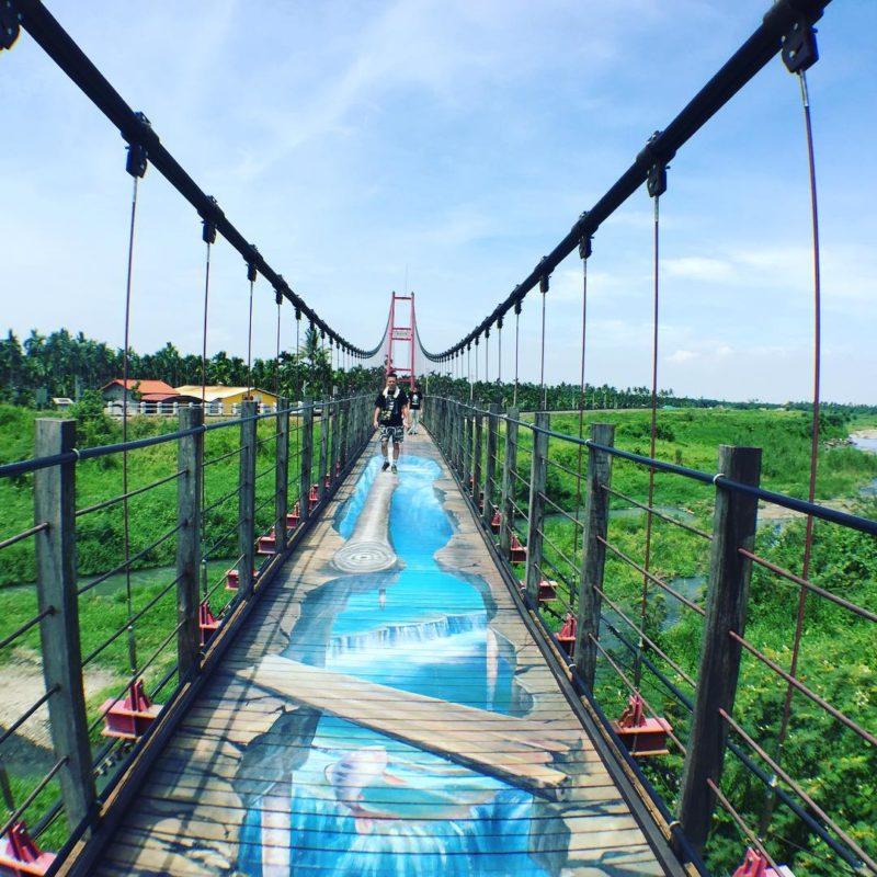 萬巒吊橋|屏東萬巒,屏東吊橋,萬巒吊橋,彩繪吊橋