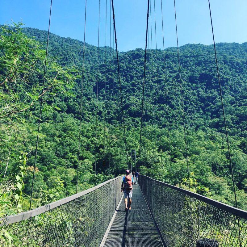 台東-八通關古道-鹿鳴吊橋段 • 橋面簍空鋼索吊橋
