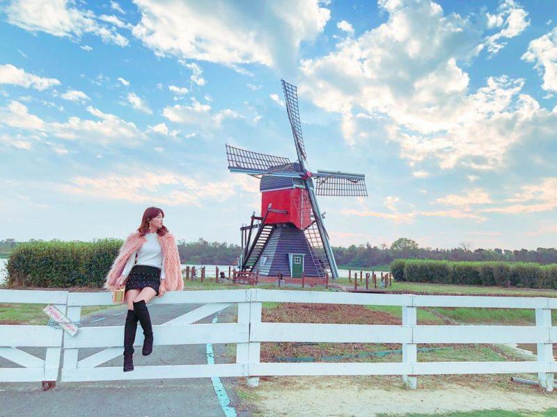 台南景點懶人包   德元埤荷蘭村位於台南柳營,有網美網紅不可缺少的荷蘭風車景觀,是台灣最有荷蘭風格的台南景點。