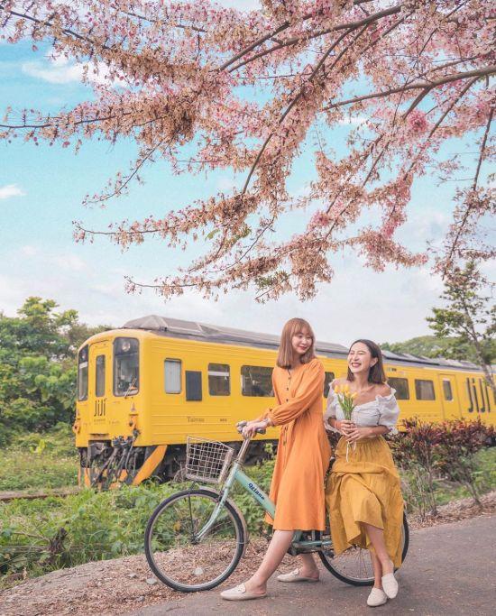 源泉派出所附近可賞楓旗木、追火車