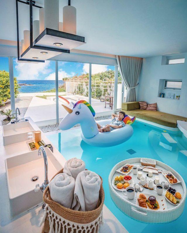 墾丁住宿 碧海晴天 Villa Yagoo 墾丁獨棟Villa擁有海景看是基本的,但位於海景第一排的碧海晴天可沒這麼簡單!