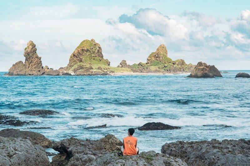 蘭嶼貝殼砂-軍艦岩 蘭嶼三天兩夜,蘭嶼景點推薦,蘭嶼秘境景點,蘭嶼美食推薦,蘭嶼懶人包,蘭嶼四天三夜