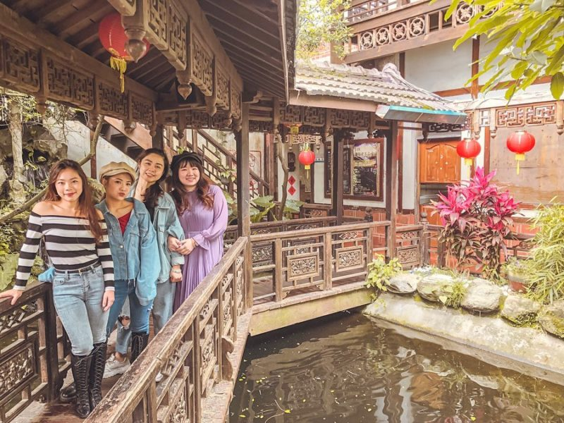 桃園景點 桃園餐廳 古色古香建築 友竹居 復古建築 復古餐廳 古早味 古裝