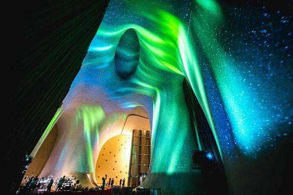 台中國家歌劇院|「光之曲幕」|光影秀|極光