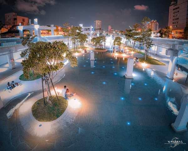 河樂廣場|台南景點|台南網美景點|網美景點|親子戲水|文青建築