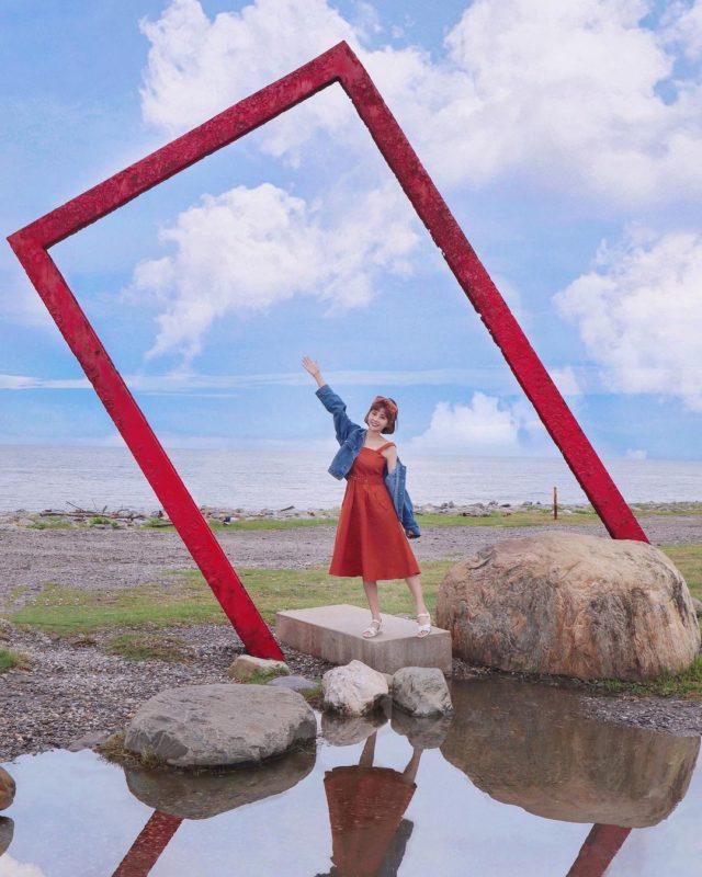 台東海濱公園 光雕表演 向陽樹 台東夜景 台東景點推薦 台東打卡景點 台東IG打卡
