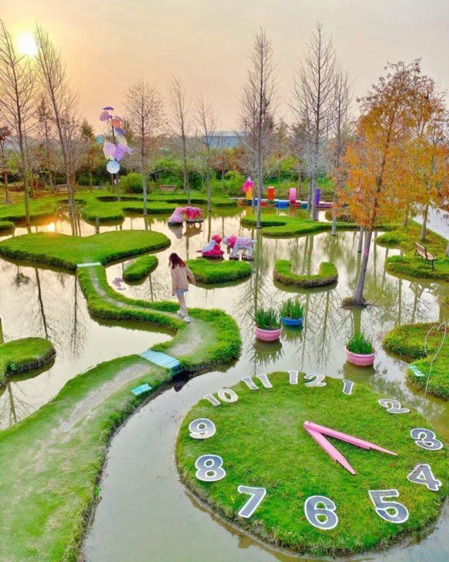 春節旅遊景點推薦,南部走春去雲林古坑珍粉紅城堡 水漾森林教堂