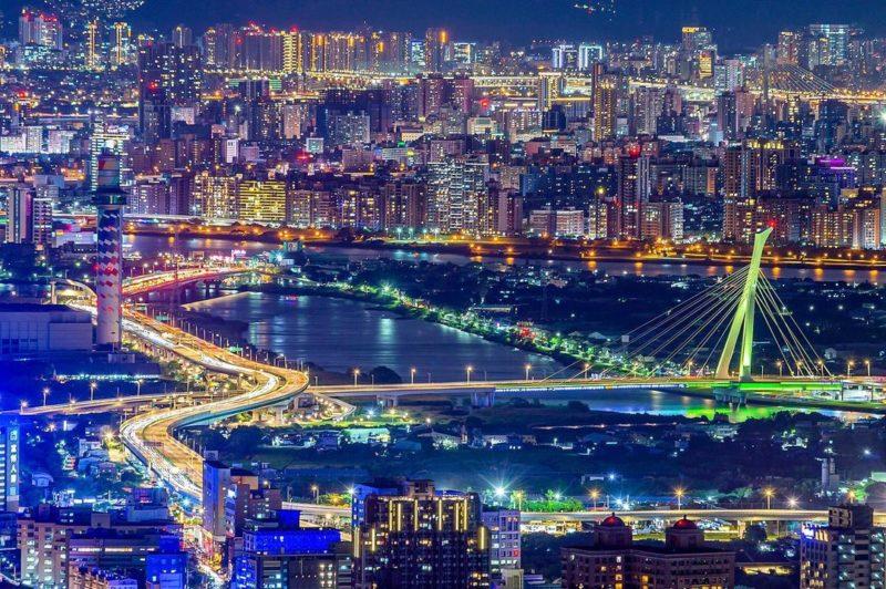 台北夜景北投四季長廊觀景台