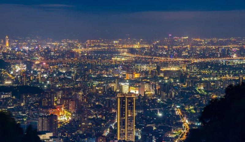 台北夜景,陽明山夜景,文化大學後山夜景
