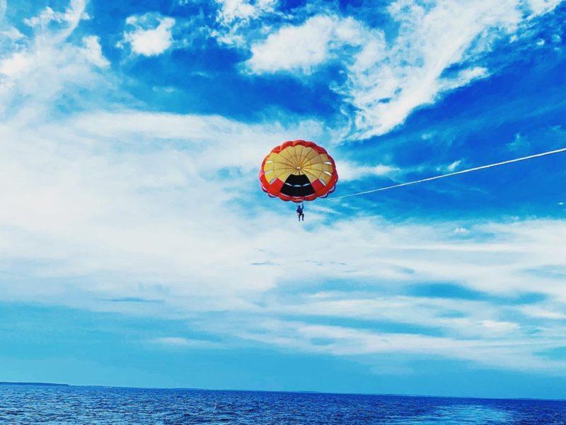澎湖景點|澎湖水上活動|拖曳傘高空飛行體驗