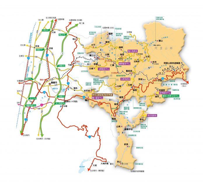阿里山地圖