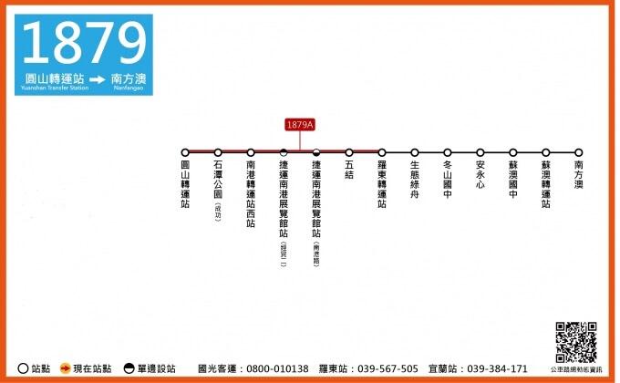 2021綠博,宜蘭綠色博覽會交通資訊,綠博公車路線,圓山轉運站,1879公車路線圖
