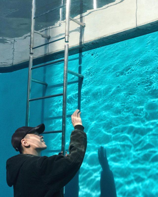 日本美術館-金澤美術館/最知名展示/泳池內