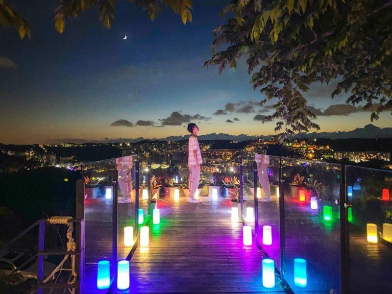 新竹夜景咖啡廳懶人包-101高山景觀餐廳空橋