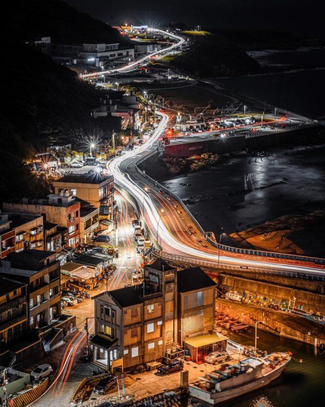 基隆夜景景點容軒步道景觀平台