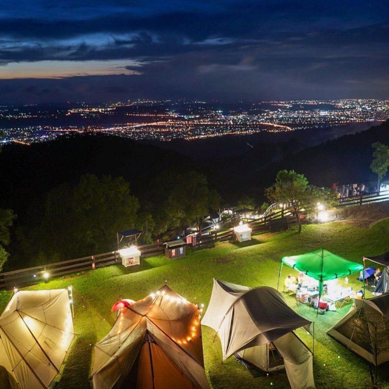 苗栗夜景巧遇露營區