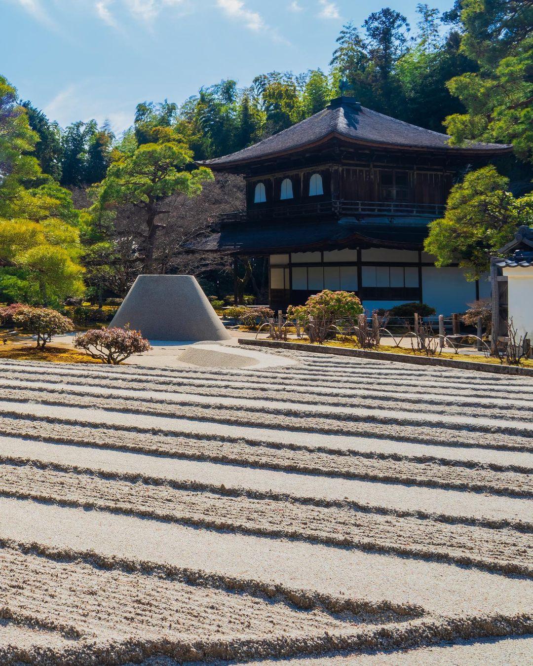 京都神社 銀閣寺 白沙灘