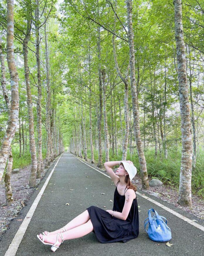 ▲大農大富平地森林園區自行車道-龍貓森林隧道。(圖/731.ing,Instagram)