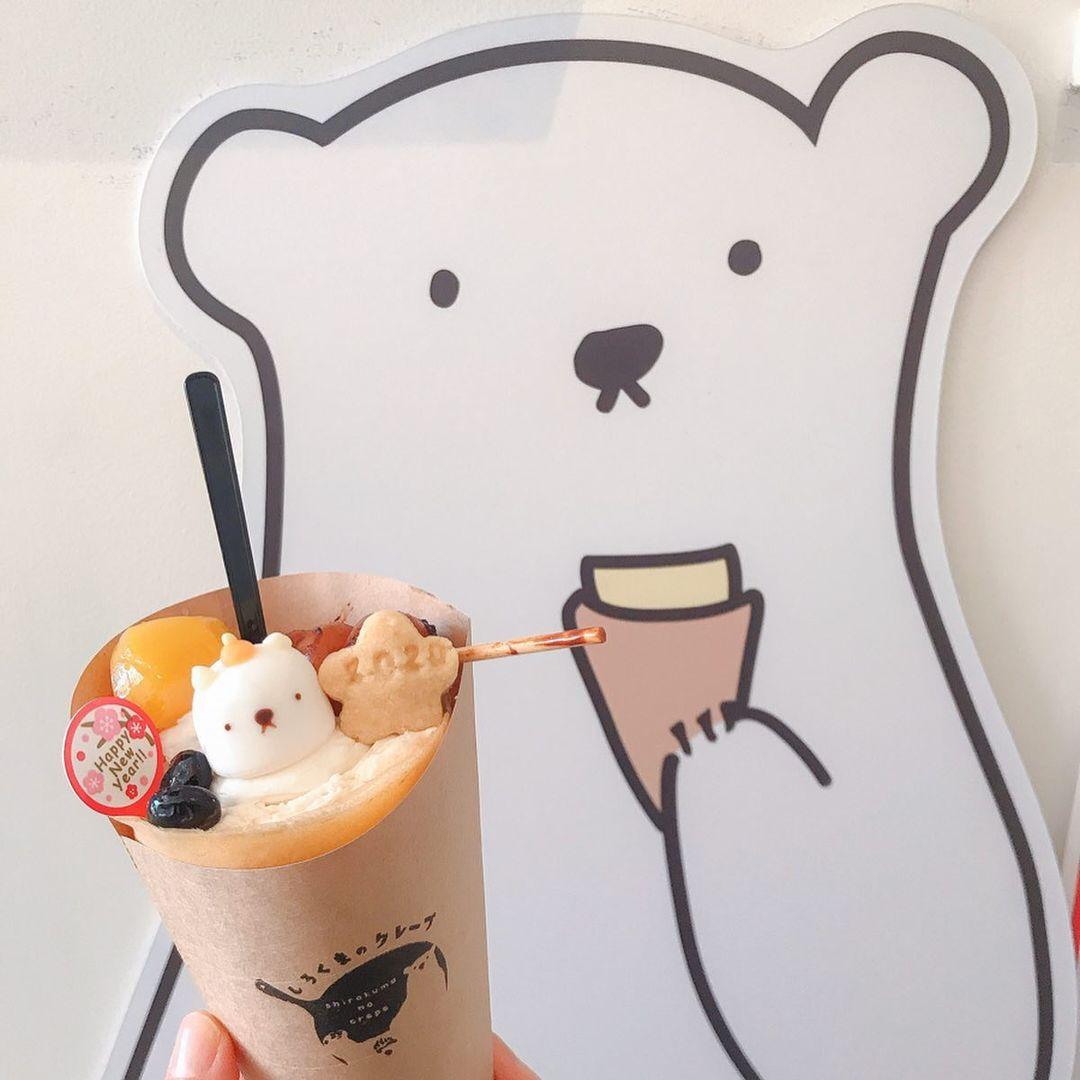 札幌甜點白熊棉花糖可麗餅