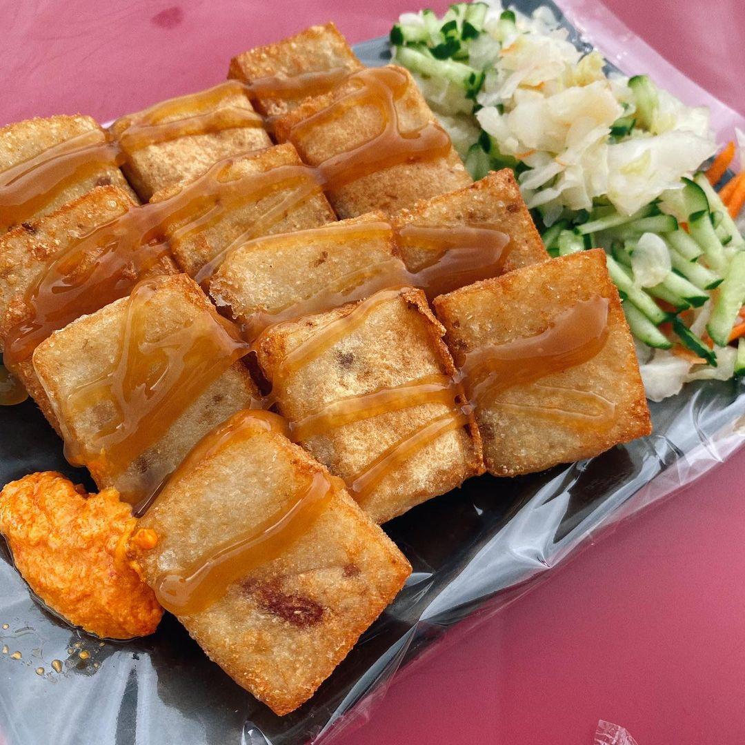 蘭嶼美食東清夜市蘿蔔糕