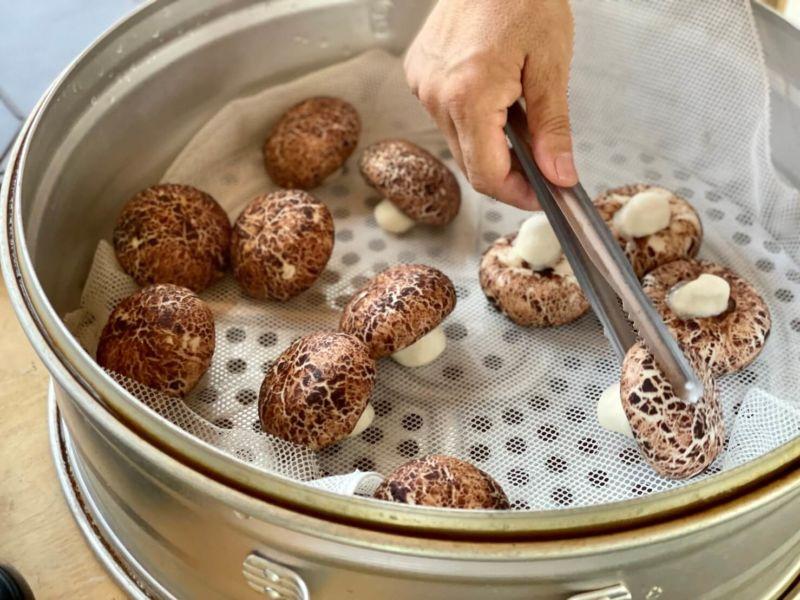 百菇莊 體驗活動 香菇造型奶皇包