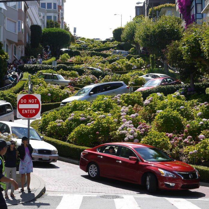 美國西岸舊金山景點-九曲花巷