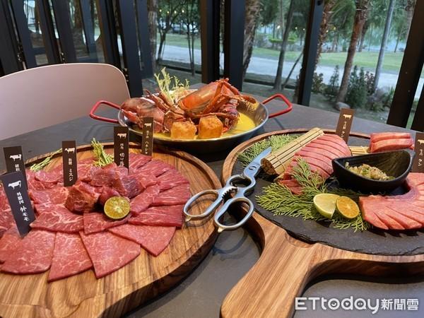 ▲晚餐更是銷魂,可以一次吃到波士頓龍蝦海鮮拼盤、A5和牛拼盤。