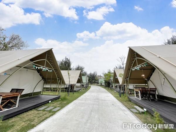 ▲全區共有30座帳篷,分為5種房型。