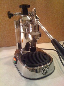 The La Pavoni after the modification