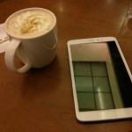 Im Coffeeshop.