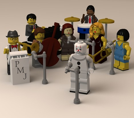Post Modern Jukebox Lego 3d Illustration- modelled and rendered in StrataStudio3D