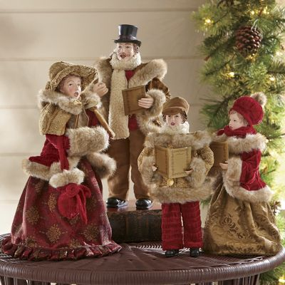 Set of 4 Family Christmas Carolers from Country Door  NC41750