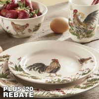 Paula Deen 16-Piece Southern Rooster Dinnerware Set from ...