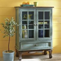 Hattiesburg Turquoise Distressed Cabinet from Seventh ...