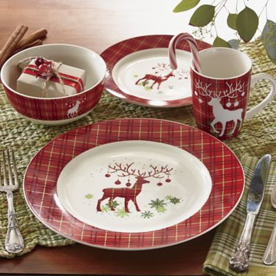 fall chair covers bath assist 16-piece prancer dinnerware set from country door | nc713774