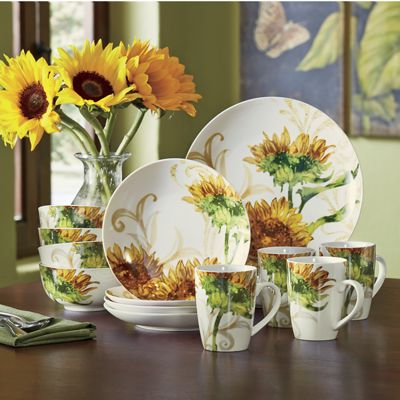16Piece Prairie Gold Dinnerware Set from Seventh Avenue