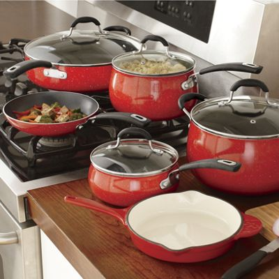 10Piece Aluminum Speckled Cookware Set by The Pioneer